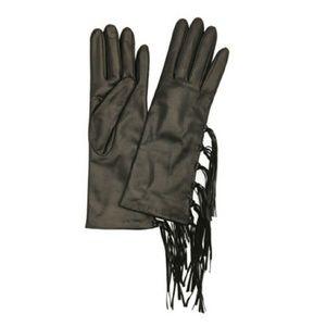 Portolano Leather Fringe Gloves